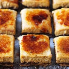Creme Brule Pumpkin Chocolate Cheesecake Bars