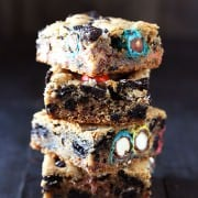 These are INSANE!! Loaded Cookie Bars stuffed with Oreos, Reese's, and M&M's!