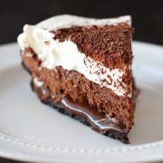 Chocolate Caramel French Silk Pie