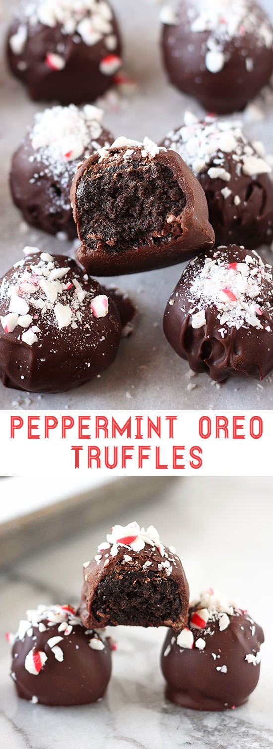 Peppermint Oreo Truffles - Handle the Heat