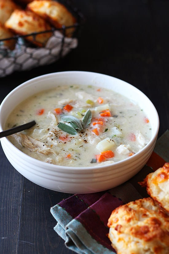 Perfect way to use leftover Thanksgiving turkey! Just 30 minutes and SO rich and satisfying. Warms the soul!