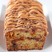 Butterscotch Cinnamon Swirl Quick Bread is an impressively delightful treat that makes a perfect homemade gift or treat. No one has to know how easy it is!