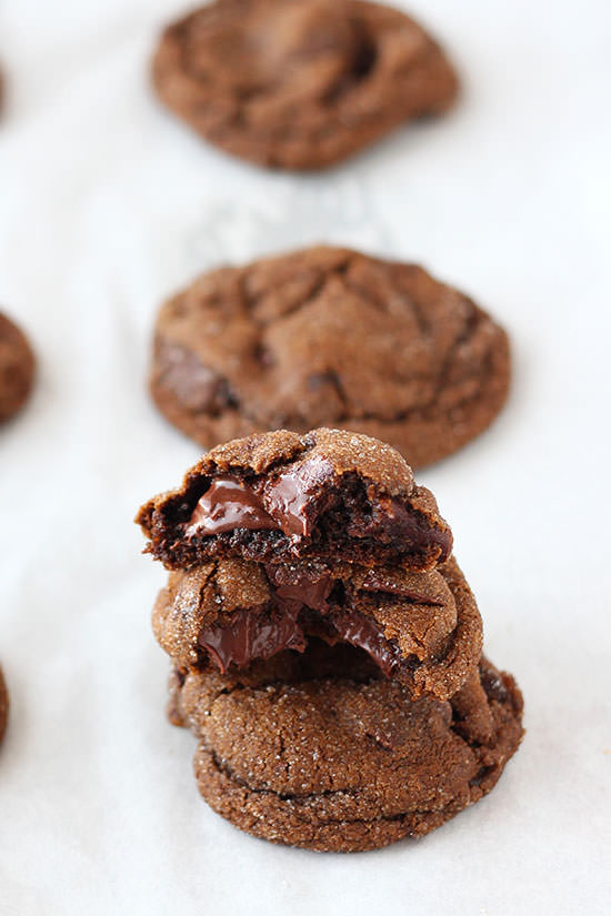 Chewy Chocolate-Gingerbread Cookies Recipe — Dishmaps