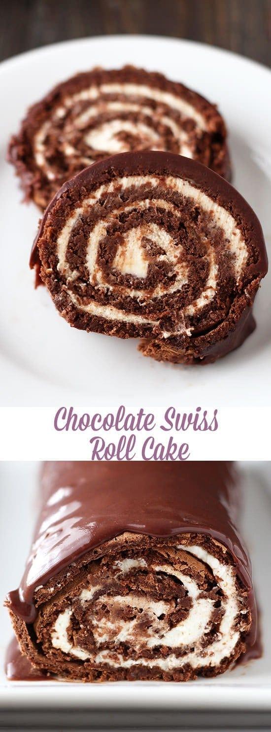 Chocolate Swiss Roll Cake - Handle the Heat