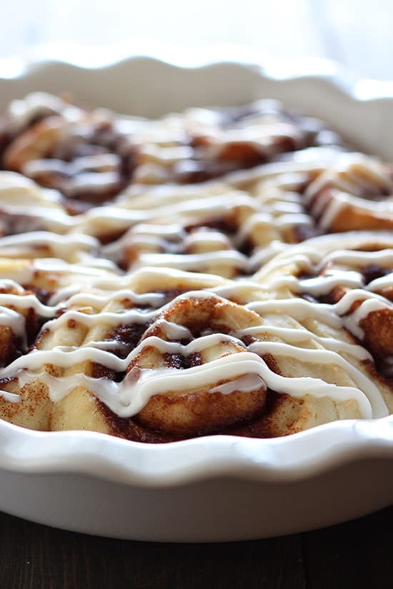 Doesn't get better than cinnamon rolls in less than an hour!!! PERFECT.