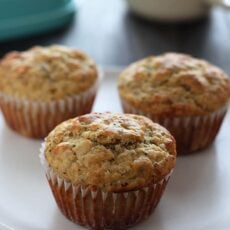 Low Sugar Meyer Lemon Chia Seed Muffins