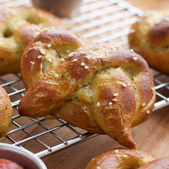 amazing garlic parmesan soft pretzels
