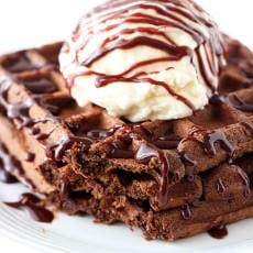 My boyfriend said these were the BEST waffles he's ever eaten!!