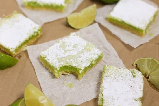 Fresh homemade lime bars in just an hour!