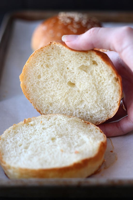 SO light and fluffy!! We LOVED these homemade burger buns!