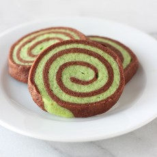 Chocolate Mint Pinwheel Cookies
