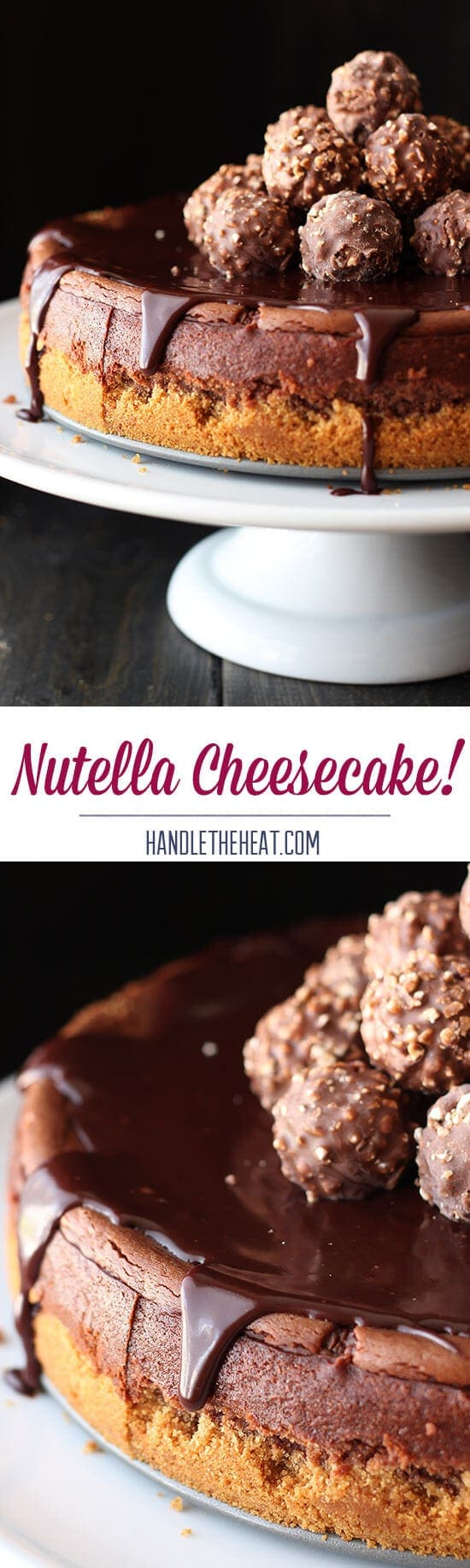This. is. DIVINE!! SO easy to make and tastes OUTSANDING. A+ recipe for Nutella Cheesecake.
