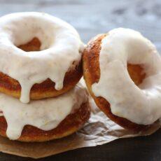 Baked Donuts with Lemon Glaze