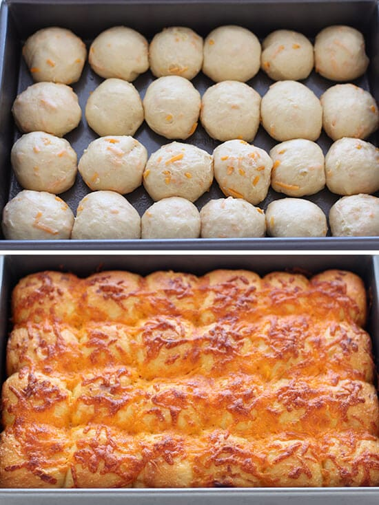 Cheddar Potato Bread Rolls - you can make these ahead of time!