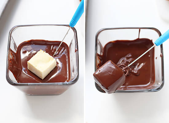 How to make Chocolate Covered Cheesecake Bites