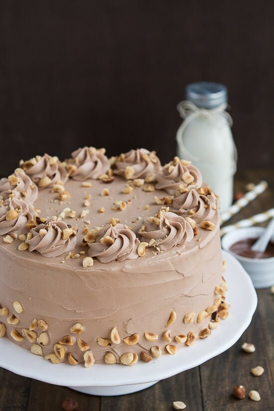 Banana Hazelnut Cake is the perfect combination of banana, chocolate, and nuts.