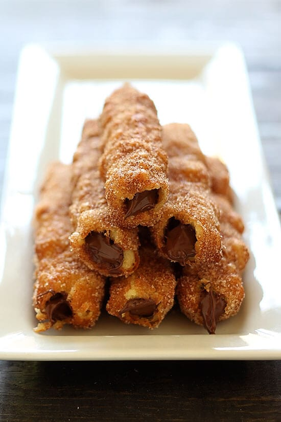 "Nutella Stuffed Churros require just one to describe them - ""AMAZING!"""
