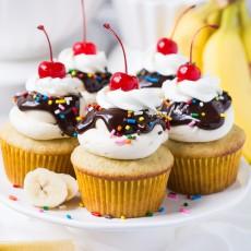 Banana Split Cupcakes