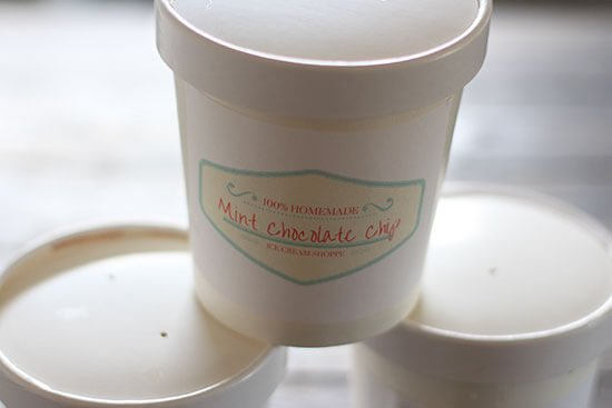 Free printable ice cream labels