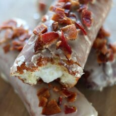 Maple Bacon Bars with Bourbon Cream Filling