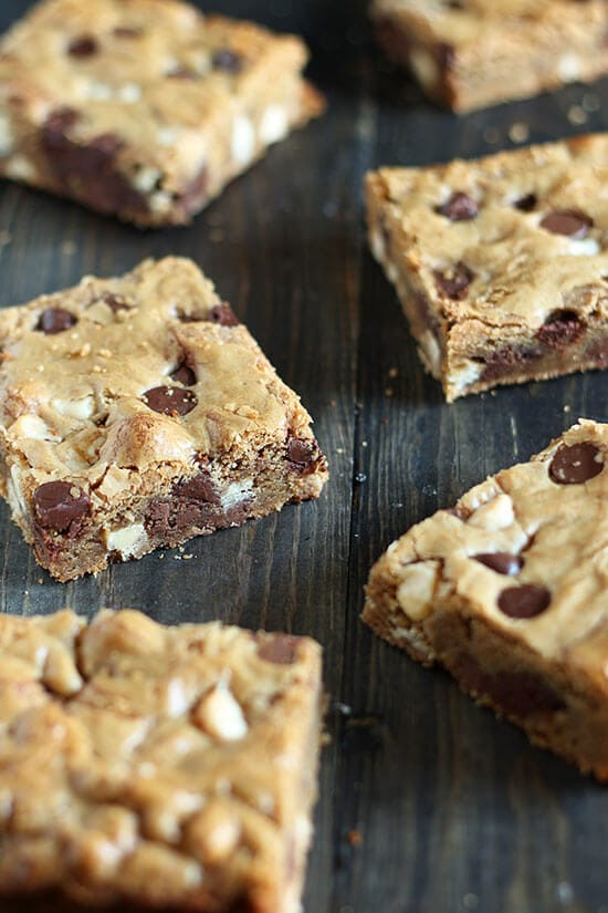 Brown Butter Triple Chocolate Blondies