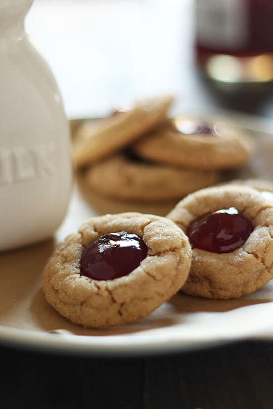 Turn that classic sandwich into an adorable treat both kids and adults love with this easy recipe for PB&J Thumbprint Cookies.