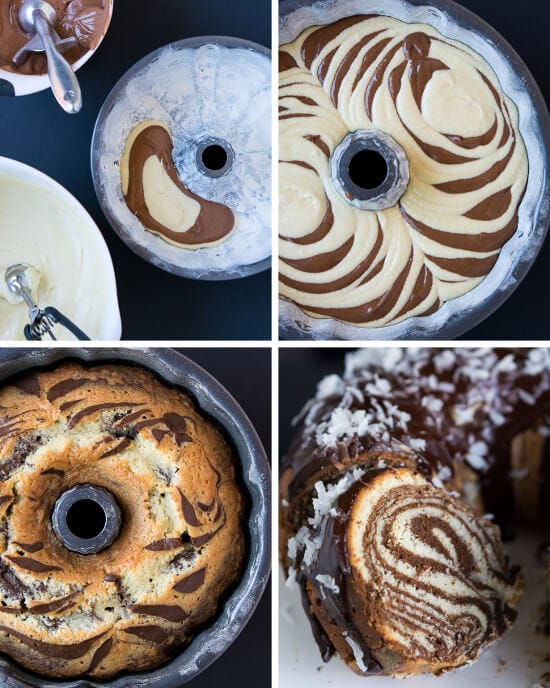 Wow your guests with this fun Surprise-Inside Coconut Zebra Cake!