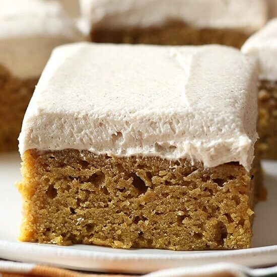 Pumpkin Dessert Bars Recipe: Pumpkin Bars With Brown Sugar Frosting