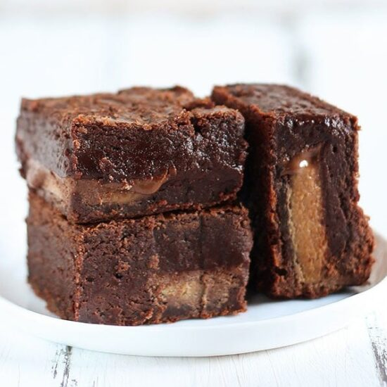 The Best Peanut Butter Brownies - Handle the Heat
