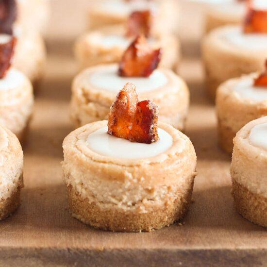 Maple Bacon Mini Cheesecakes - Handle the Heat