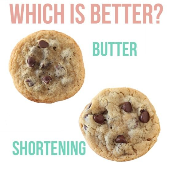 Butter vs Shortening, which is BETTER? The exact differences simply explained (video included) with side-by-side comparisons in cookies, biscuits, and pie crusts so you can SEE the difference.