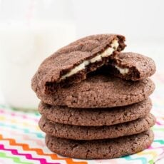Cream Cheese Stuffed Chocolate Cookies