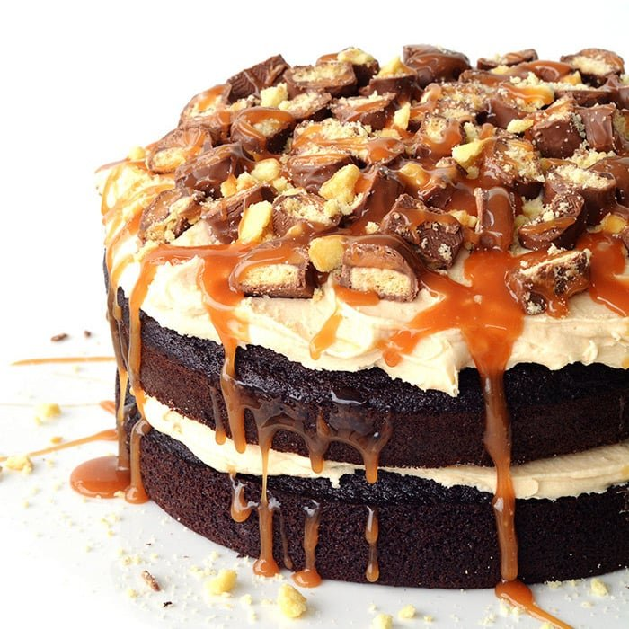 Twix Chocolate Layer Cake Handle The Heat
