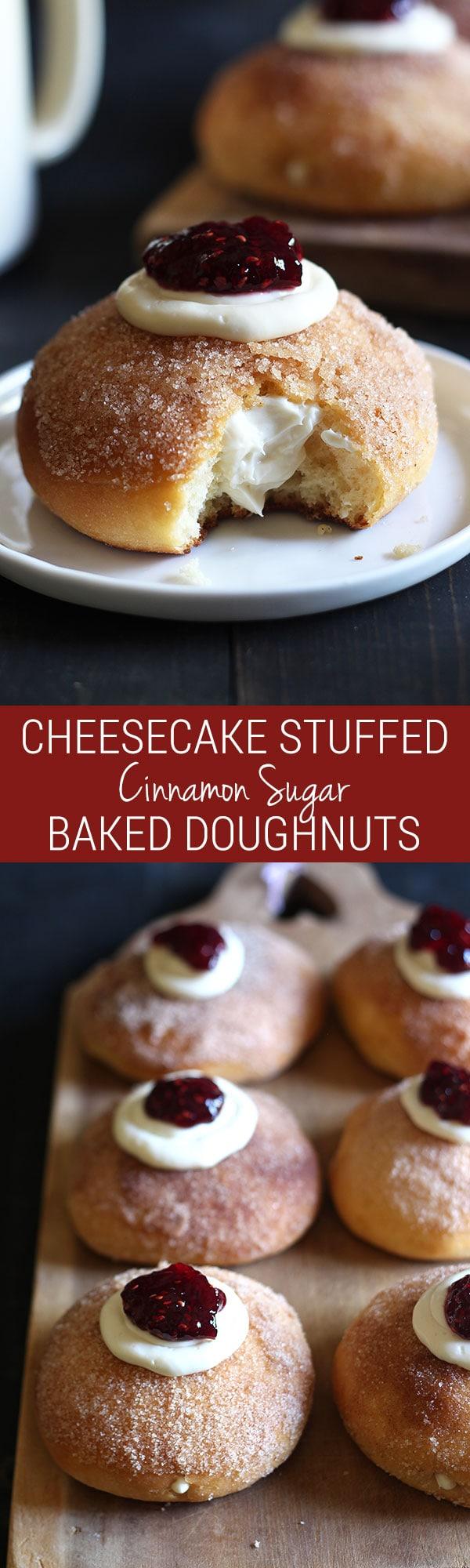 ... doughnut coated in cinnamon sugar, stuffed with sweetened cream cheese