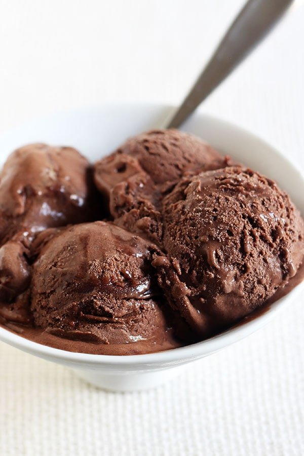 Death by Chocolate Ice Cream features an ultra rich, thick, and creamy double chocolate custard-based ice cream with chocolate fudge swirled throughout. Every bite is a chocoholic's dream!