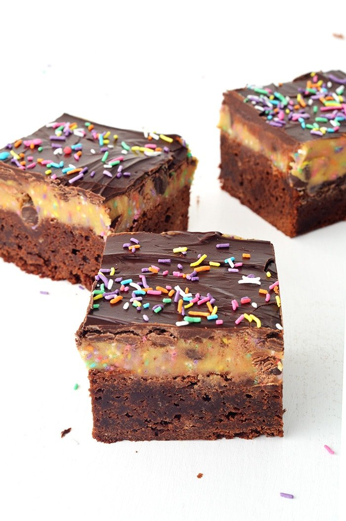 Funfetti Cookie Dough Brownies