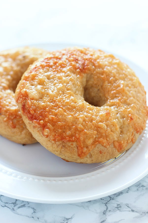Homemade Asiago Cheese Bagels