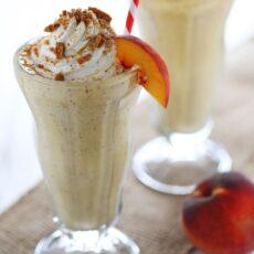 Peach Pie Milkshakes