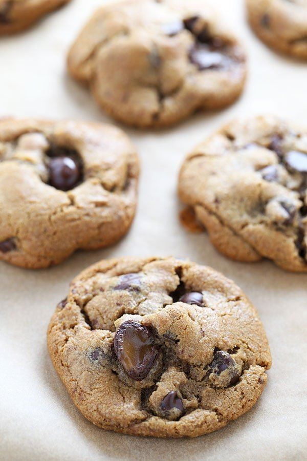 Butterscotch Browned Butter Chocolate Chip Cookies are ridiculously flavorful and chewy with crisp edges and an ooey gooey center.