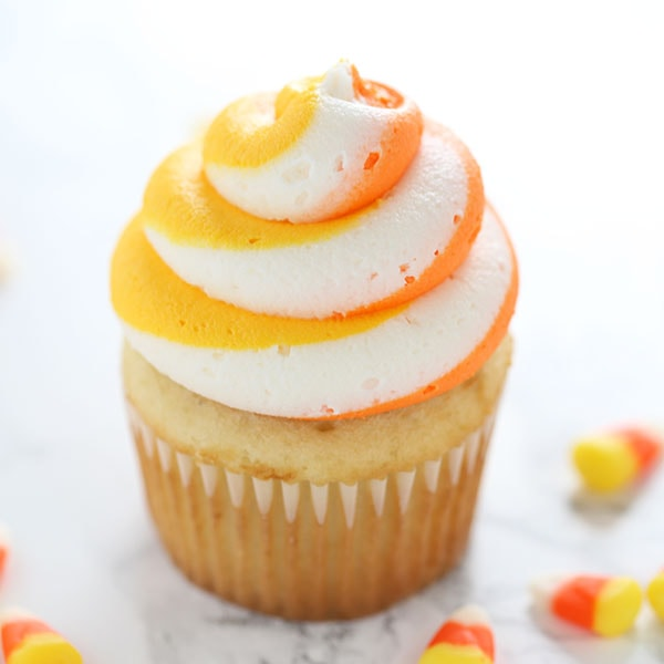 How to Make Candy Corn Cupcakes for Halloween