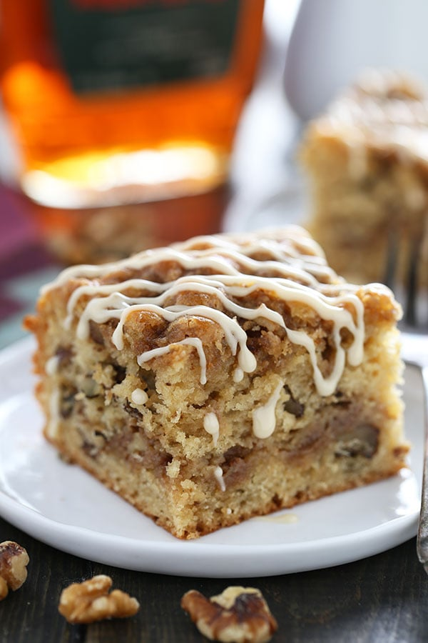 Maple Walnut Coffee Cake is perfectly moist, light, and fluffy while ...