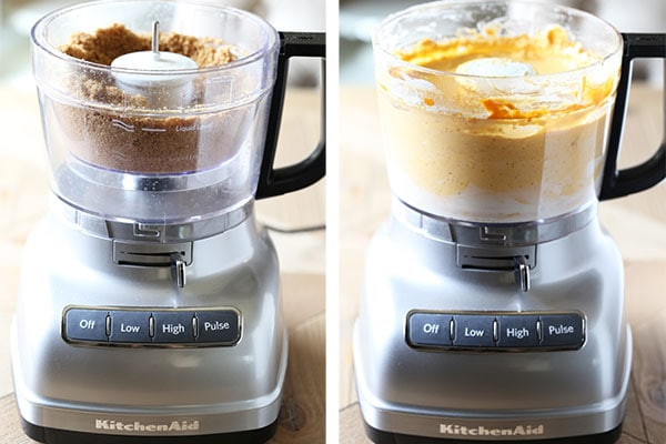 Make cheesecake crust AND filling with your food processor