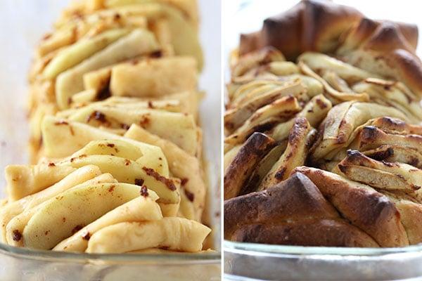 Baking Apple Pie Pull Apart Loaf