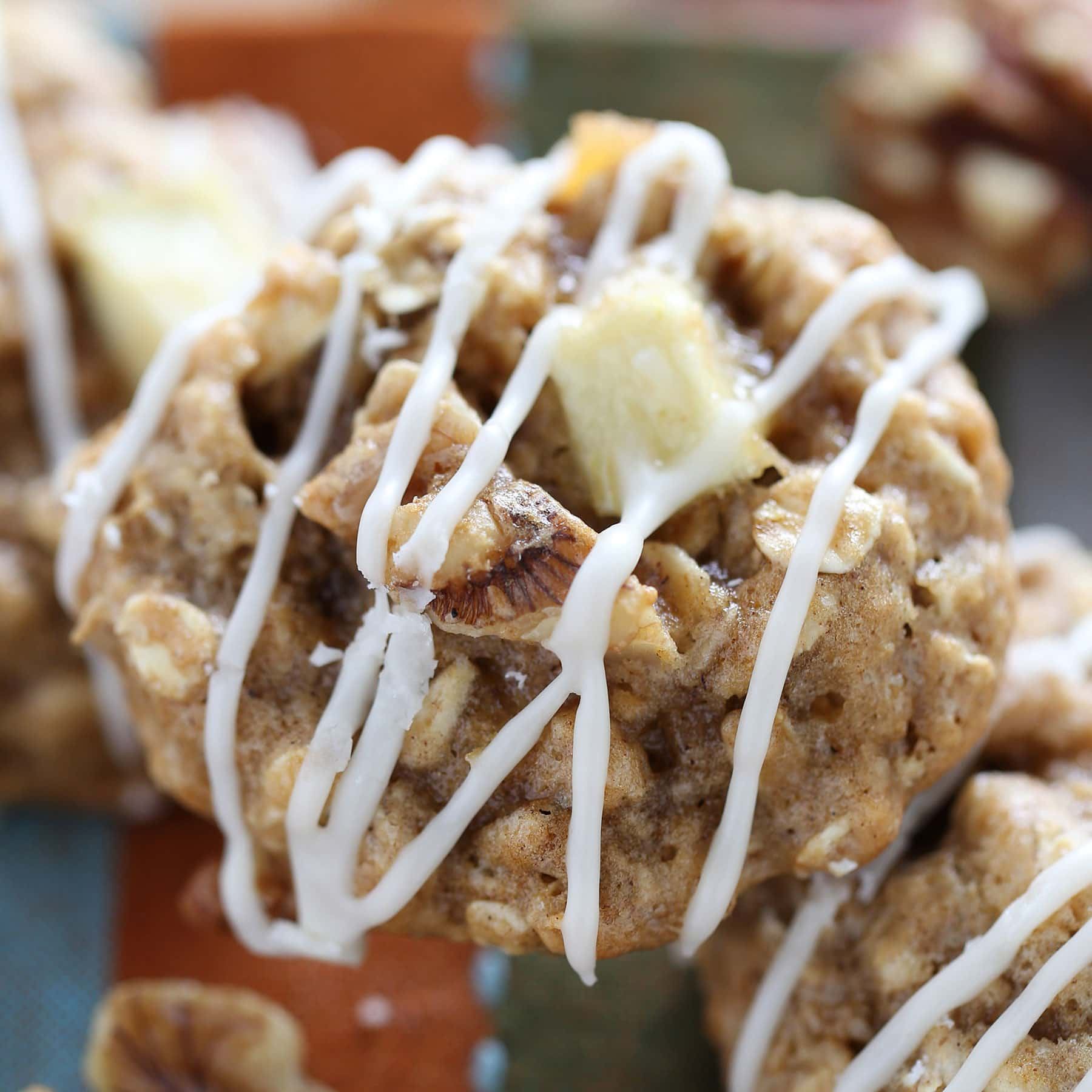 Apple Walnut Oatmeal Cookies are full of warm fall flavors and take just 30 minutes to make from start to finish. You don't even need an electric mixer!