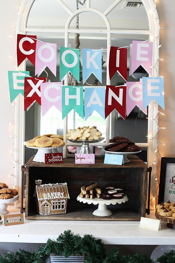 How to Host a Cookie Exchange with FREE PRINTABLES included!