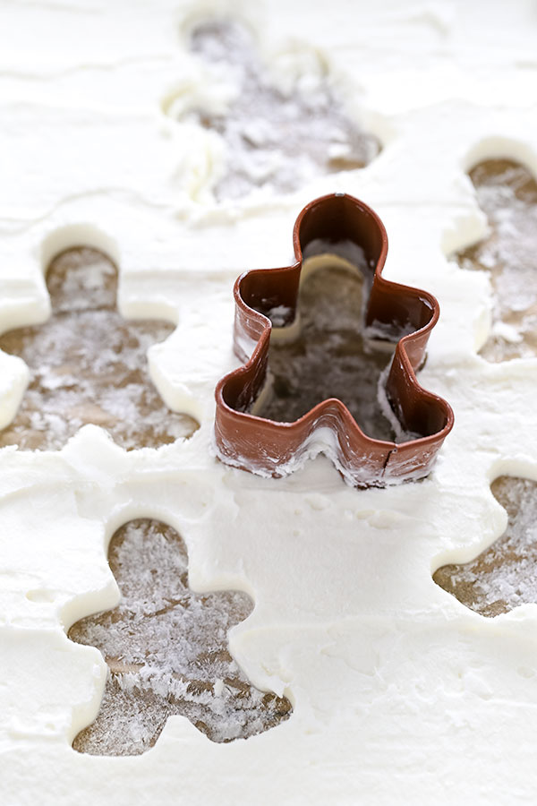 Gingerbread Men Whipped Cream Ice Cubes