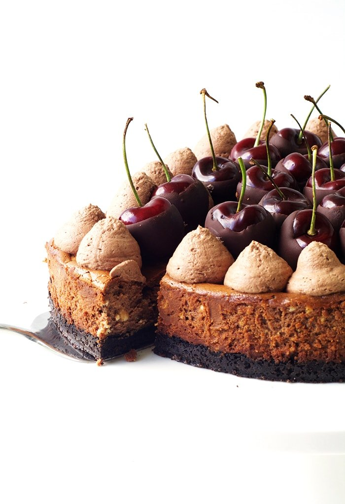 Baked Black Forest Cheesecake