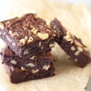 So much better than box mix brownies, but practically as easy! This is our new go-to brownie recipe!