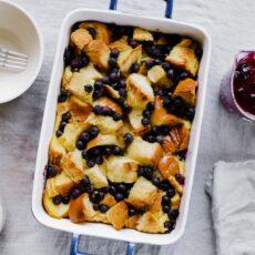Lemon Blueberry French Toast Casserole