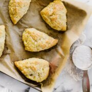 How to Make Perfect Scones better than your favorite coffee shop in just 35 minutes! Easy recipe with make-ahead tips and flavor variations included